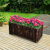 Outsunny Raised Flower Wooden Planter Container Box w/ 4 Feet (120L x 50W x 50H (cm))
