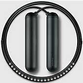 Tangram Smart Fitness Rope│23 LEDs│Chargable│Calories Burner│Black Extra Large