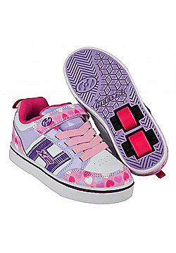 Heelys Bolt Plus Light Pink/Lilac/Hearts Heely Shoe - Purple