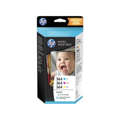 HP 364 Ink Cartridge - Inkjet - 3 Pack