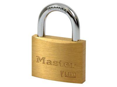 Master Lock V Line Brass 50mm Padlock - Keyed Alike 41332