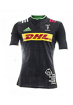 adidas Harlequins 2015/16 S/S Big Game 8 Charity Rugby Shirt - All Sizes - Black