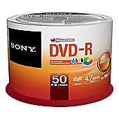 Sony 50DMR47PP DVD-R 16x recordable storage 50-pack