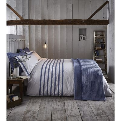 Bianca Cotton Soft Chambray Pleats Duvet Cover Set - King