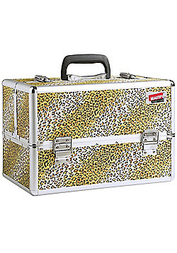 Beautify Large Animal Leopard Print Beauty Cosmetics Make Up Case