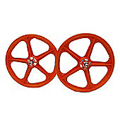 "Skyway Tuff II Orange 20"" BMX Wheelset"