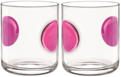 Bormioli Rocco Giove Water Tumbler Glasses - Set Of 2 - Fuchsia Pink - 310ml
