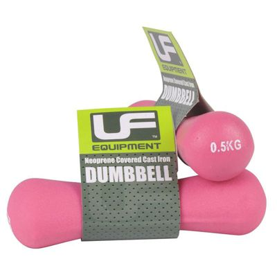 UFE Dumbbells Body Building Neoprene Covered 0.5kg Pink
