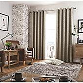 Curtina Regan Eyelet Lined Curtains - Charcoal