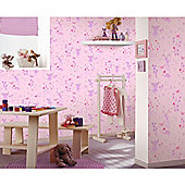 Fairies Pink Wallpaper 10m