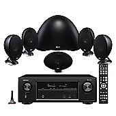 Denon AVR-X1400 7.2 Channel Receiver with KEF E305 5.1 Speaker Package (Black)