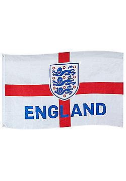 England FA Flag 5x3ft - White
