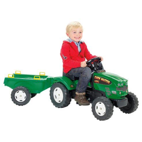 Green Tractor Farm & Trailer Ride-On