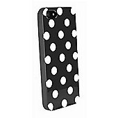Polka Dot Case - iPhone 5 / iPhone 5S / iPhone SE - Black with White Dots