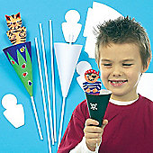 Easter Cone Puppet Kits (Pack of 10)