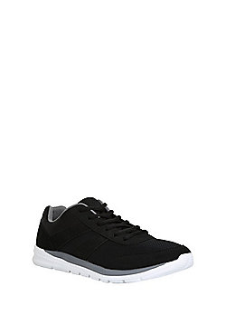 F&F Mesh Panelled Lifestyle Micro-Fresh® Trainers - Black