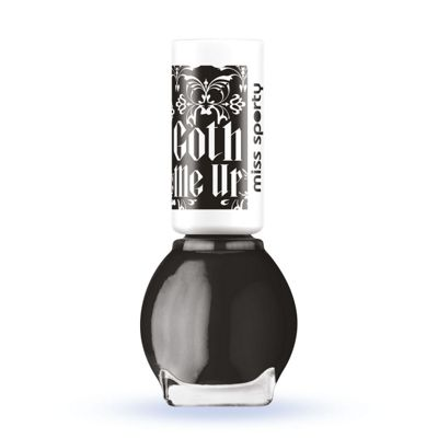 Miss Sporty Goth Me Up - Black Smokey Top Coat 7ml