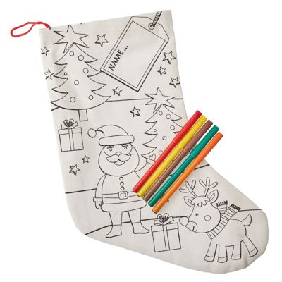 Buy Colour Your Own Santa Christmas Stocking From Our All Christmas