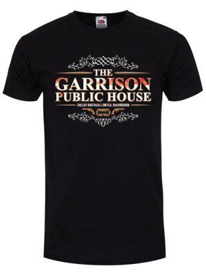 The Garrison Public House Men's T-shirt, Black.