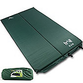 Trail 2.5cm Double Self-Inflating Camping Mat - Green
