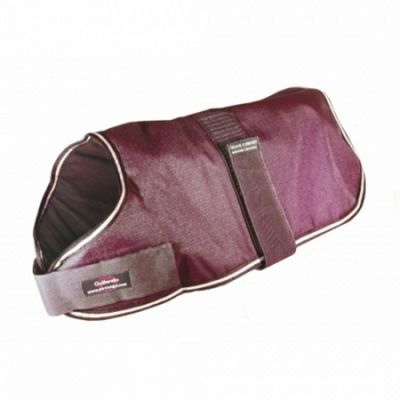 Outhwaite Waterproof Dog Coat Padded Lining - Maroon 40cm