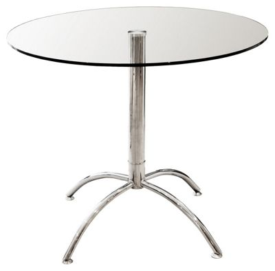 Home Essence Luna Dining Table - Clear
