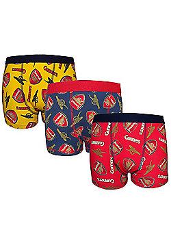 Arsenal FC 3 Pack Boys Boxer Shorts - Multi