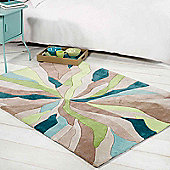Infinite Splinter Rugs in Teal Green 120x170cm