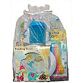 Baby Feeding Weaning 5 piece Gift Set Blue Cup
