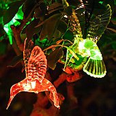 10 Colour Changing LED Hummingbird Solar Fairy Lights