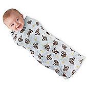 Summer Infant One Size Muslin SwaddleMe Cotton Blanket 3 Pack - Go Bananas/Leaf/Sage