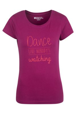 Mountain Warehouse Dance Like Nobody Printed T-Shirt ( Size: 20 )