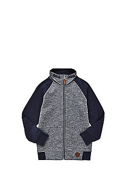 F&F Funnel Neck Zip-Through Sweatshirt - Blue