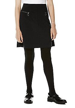 F&F School Adjustable Waist A-Line Skirt - Black