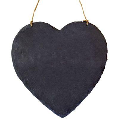 Large Hanging Heart Slate Chalk Board / Black Board - Pack of 6
