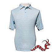 Woodworm Golf Clothes Polo Shirt Pattern Light Blue S