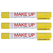 Playcolor Basic Make Up Pocket 5g Face Paint Stick (Pack of 3 - Yellow)