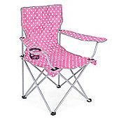 Trail Polka Dot Folding Festival Chair - Pink
