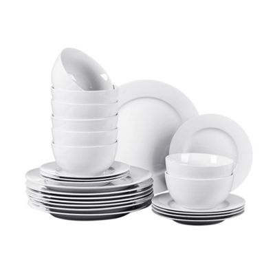 24 Piece White Pure Dinner Set
