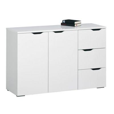 Maja- Möbel Sideboard - White High Gloss / Icy-White