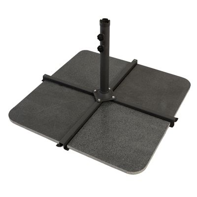 Nova - 48kg Granite Cantilever Parasol Base Slabs - Pack of 4