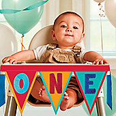 Rainbow 1st Birthday High Chair Decorating Kit