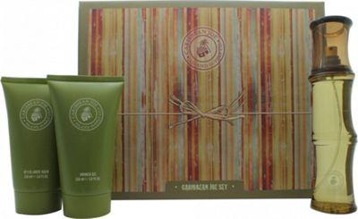Caribbean Joe For Him by Caribbean Joe Gift Set 100ml EDT + 150ml Aftershave Balm + 150ml Shower Gel For Men