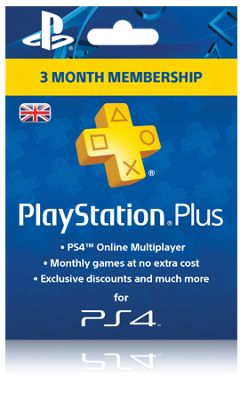 PlayStation Plus: 3 Month Membership (PSN Subscription)