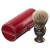 Kent Medium Size Badger Bristle Horn Shaving Brush - H8