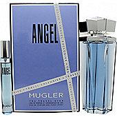 Thierry Mugler Angel Gift Set 100ml EDP Refillable + 7.5ml EDP For Women