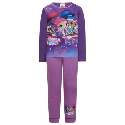 Shimmer And Shine Toddler Girls Pyjamas Purple 18-24 Months