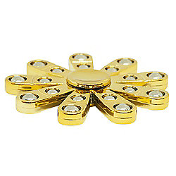 Unique Gold Metal Gloss Hand Fidget Spinner with Chrome Plated Spheres