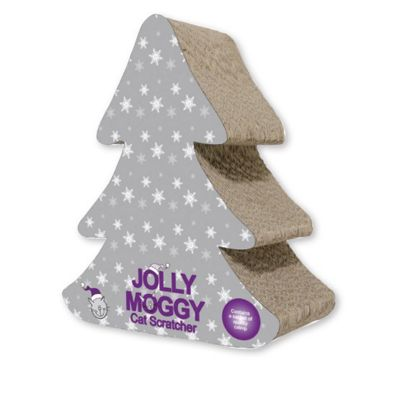 Jolly Moggy Christmas Tree Scratcher