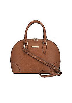 Liora Bugatti Style Grab Handbag - Tan